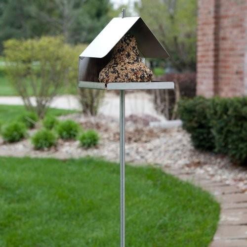 modern steel contemporary-bird-feeders