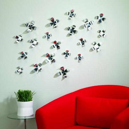45515- Umbra- Wallflower set of 20 Chrome- D