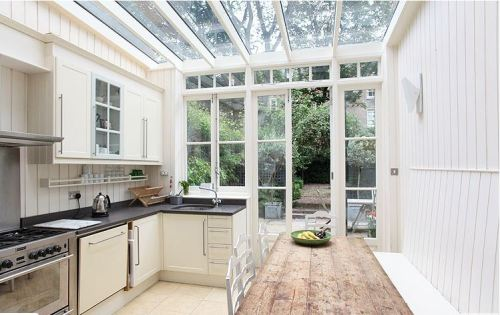 light locations victorian home house kentish town north west london glass ceiling kitchen solarium