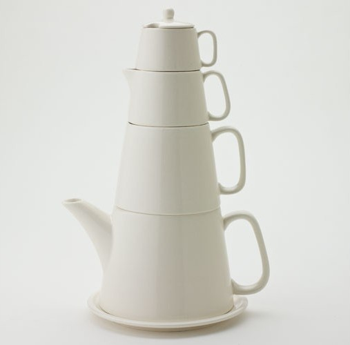 Yedi Cream Vanilla Tower Tea Set