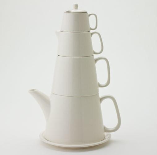Yedi Cream Vanilla Tower Tea Set