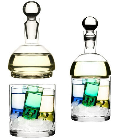 Sagaform Schnapps Carafe and Ice Container Whiskey Liquor Father's Day Gifts