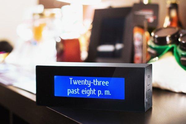 Art Lebedev Verbarius Clock Verbal Word Digital Clock Father's Day Gifts