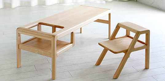 Baby In Table kid friendly furniture by Oji & Design