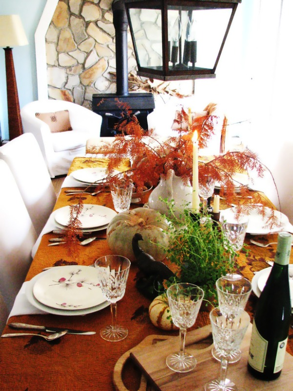 DIY Fall and Thanksgiving Dinner Centerpieces