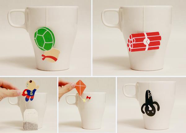 Illustration Tea Bags by Chin Yu
