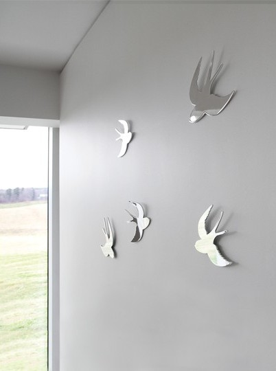 Umbra Tweet Wall Decor chrome