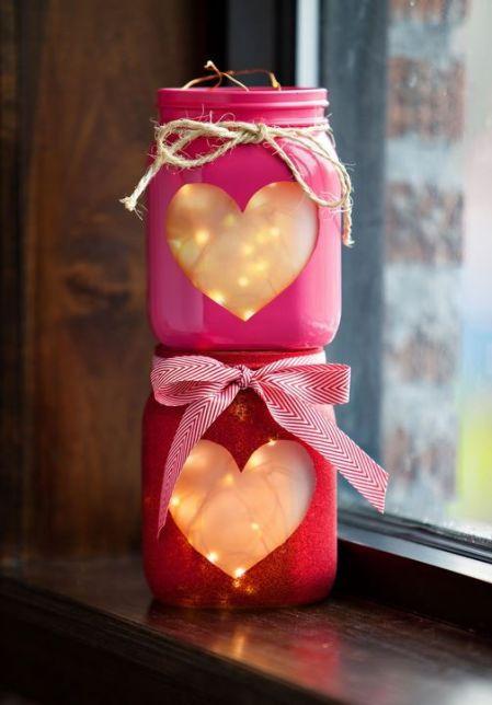 DIY valentine jars