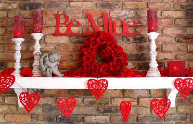 Decorating your home for valentine s day home clever - Valentine day decoration ideas ...