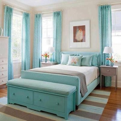Spring Blue Bedroom