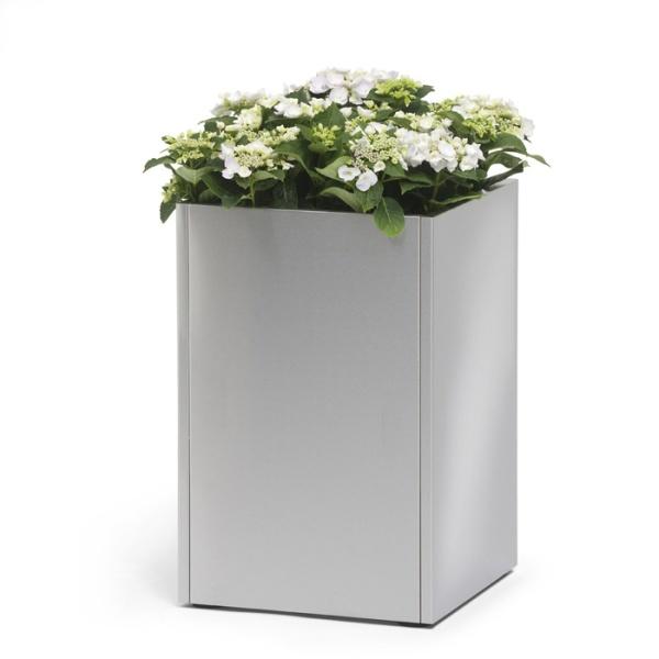 blomus cube stainless steel planter
