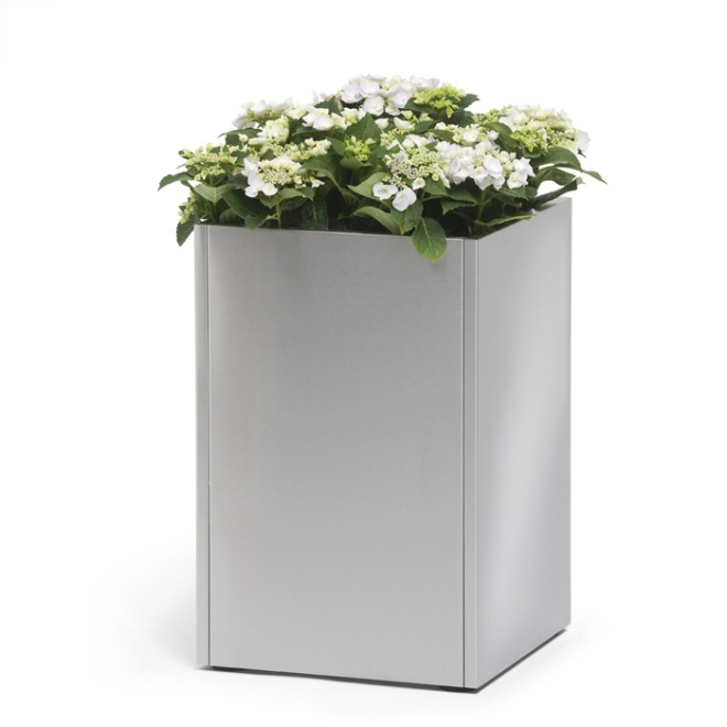 blomus cube stainless steel planter